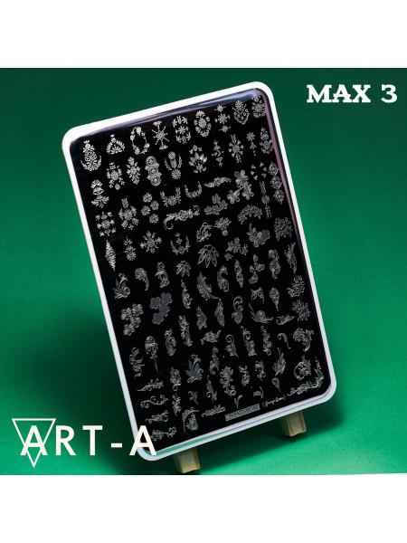 Пластина для стемпинга Art-A MAX 3