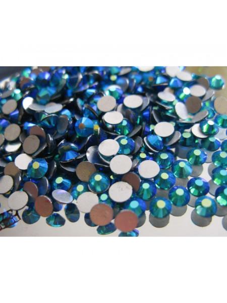 Стразы AB (ГОЛОГРАФИК) BLUE ZIRCON ss6. Упаковка 1440 шт.